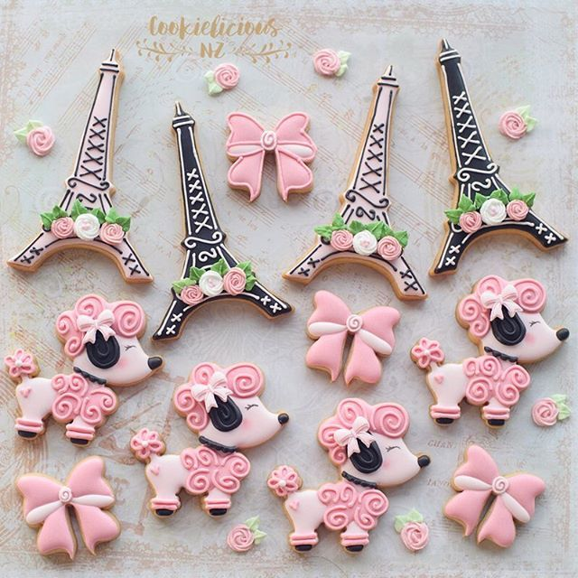 Paris & Poodles Sugar cookies