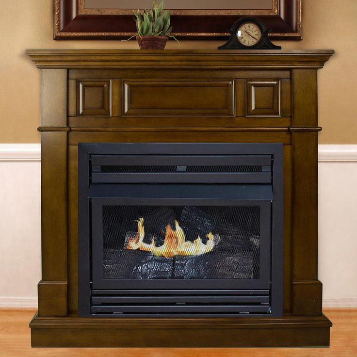 42 In Convertible Vent Free Dual Fuel Fireplace In Rich