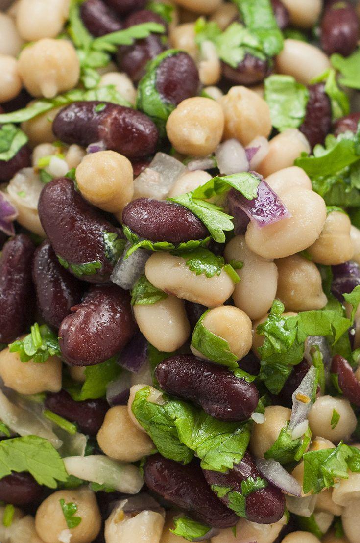 Cilantro Lime Three Bean Salad Recipe Bean Salad Three Bean Salad Bean Recipes