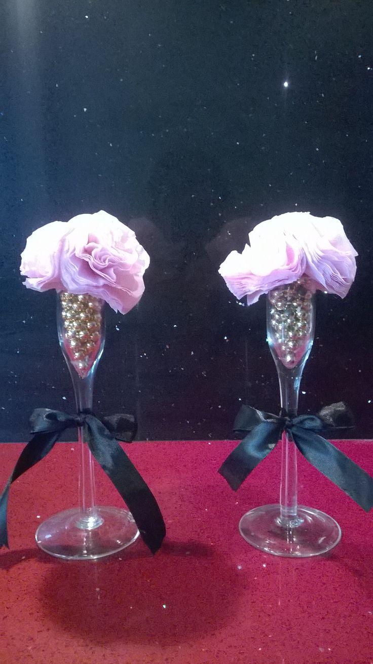 Tissue paper carnations.shabby chic!