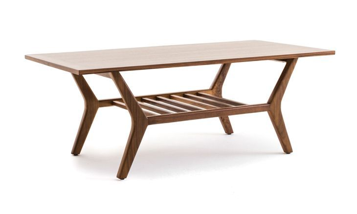 Versatile and oh-so-retro, this double-decker coffee table is the epitome of chic and allows for endless design creativity.