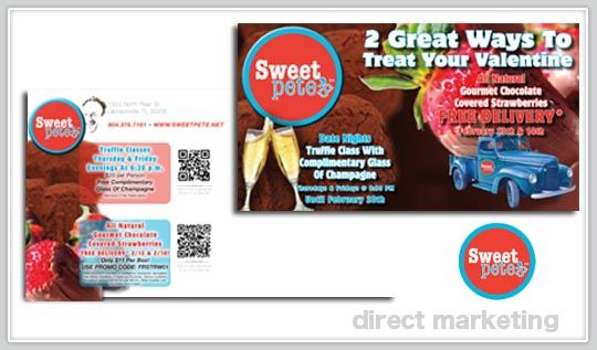 Direct Mail Piece with interactive QR Code - EDDM