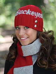 Ravelry: Ohio State Button Beanie Kit pattern by Melanie Cross