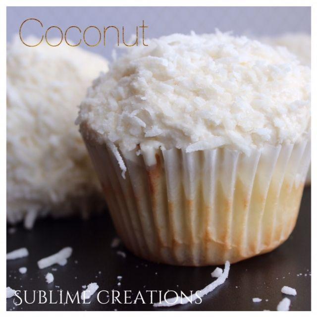 Our moist n fluffy coconut cupcake www.mysublimecreations.com