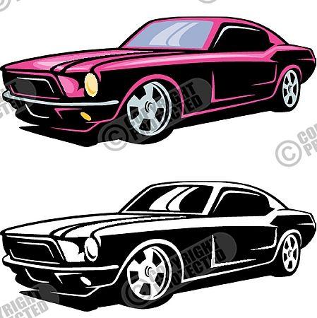 Free Sample Vinyl Ready Hot Rod Racing Car Vector Clipart Download