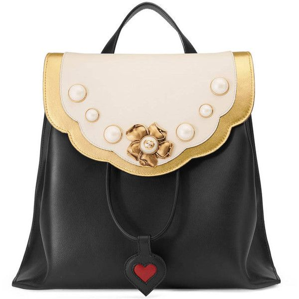Gucci Leather Studded Backpack ($2,120) ❤ liked on Polyvore featuring bags, backpacks, handbags, women, leather rucksack, real leather backpack, leather bags, pocket backpack and genuine leather bag