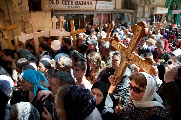 Eastern Orthodox Christians Good Friday in Jerusalem