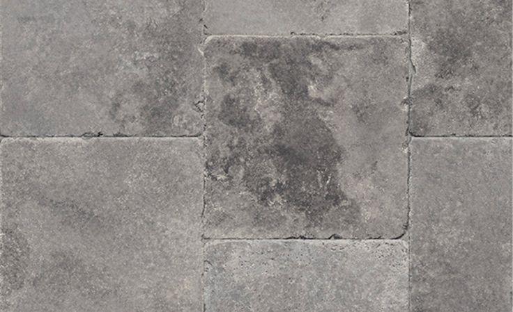 Sol vinyle TEXMARK, pavé gris, rouleau 4 m - . - Saint Maclou
