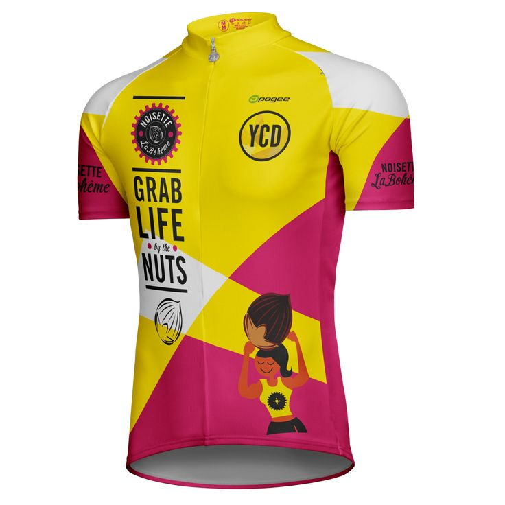 Cycling jersey - Designed and made by Apogee Sports.   Client : Grab life by the nuts