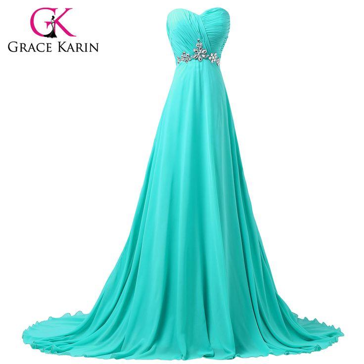 Encontrar Más Vestidos de Gala Información acerca de Gracia Karin turquesa…