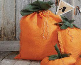 buy silver ring online Burlap Pumpkins   DIY Halloween Decor