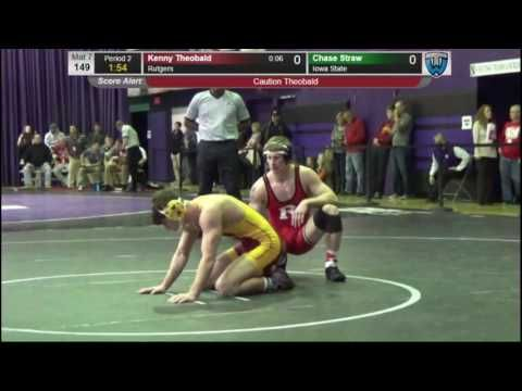 Kenny Theobold (Rutgers) vs Chase Straw (Iowa State)  -Midlands Wrestling Tournament