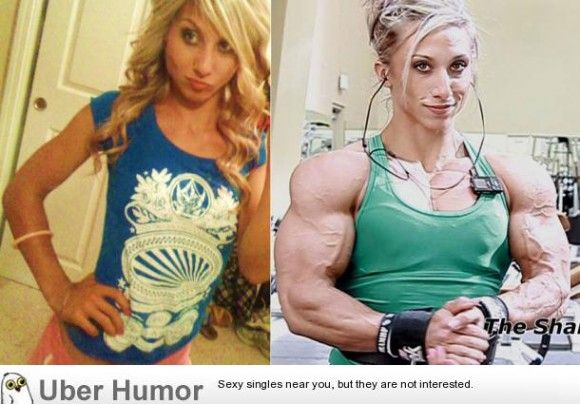 startling before and after of a woman on steroids - http://limk.com
