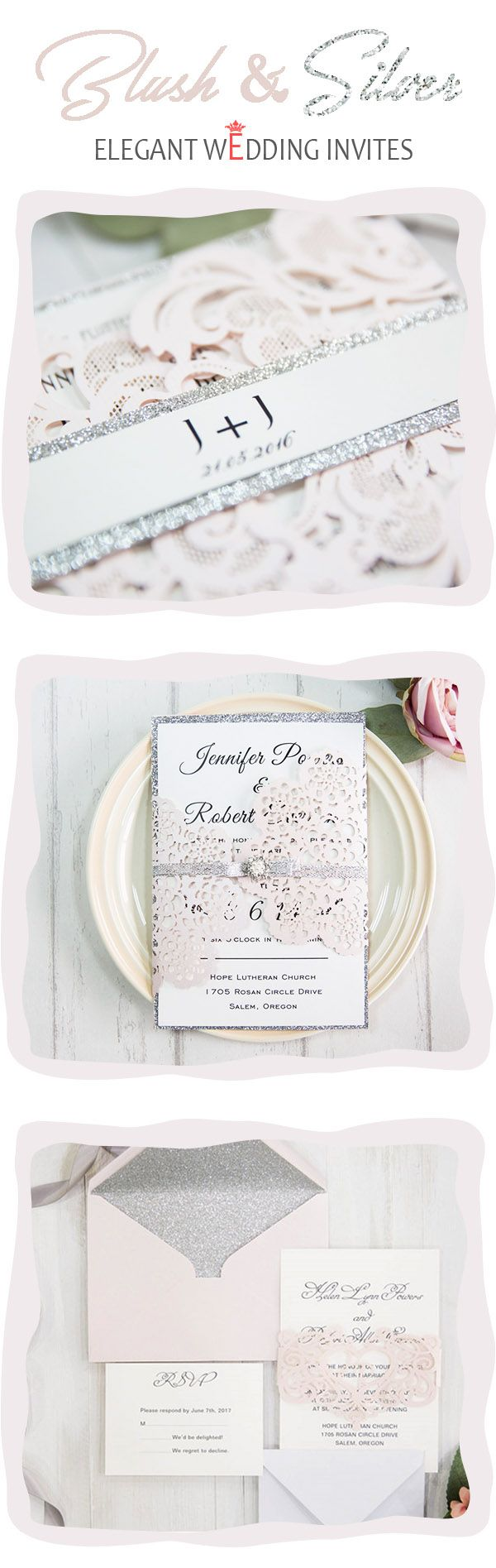13 best Pink Wedding Invitations images on Pinterest   Cards, Pink ...