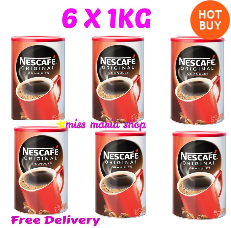 Nescafé Original Coffee Granules 6X1kg Tins Catering Offices Bulk Buy Catering