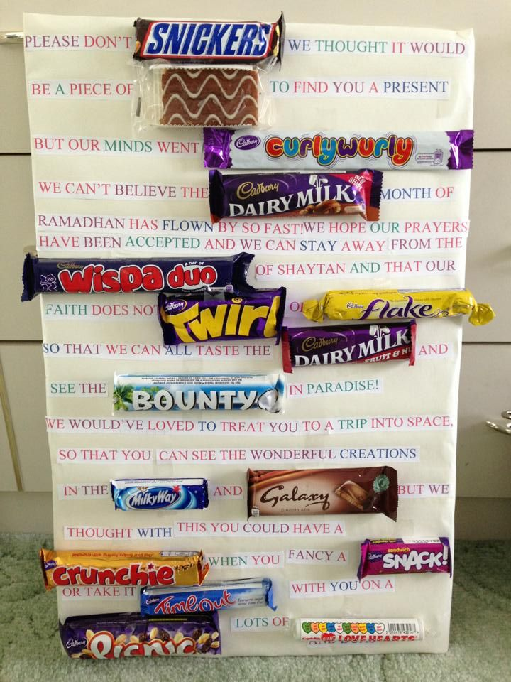 The 25 best diy eid cards ideas on pinterest eid card images check out this original chocolatey gift idea for eid negle Images
