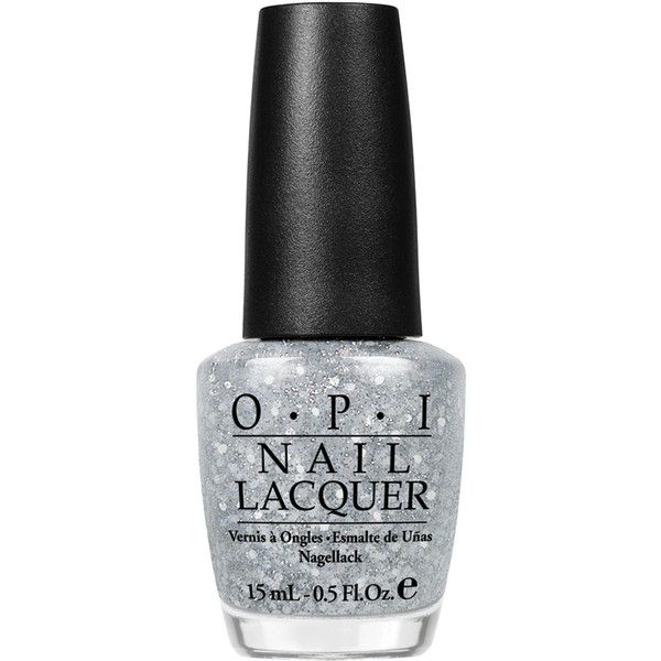 O.P.I Nail Polish in Pirouette My Whistle 15ml ($19) ❤ liked on Polyvore featuring beauty products, nail care, nail polish, nails, beauty, makeup, silver, sparkle nail polish, opi nail color and silver sparkle nail polish