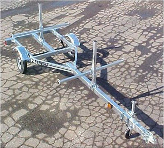 2 Canoe / 4 kayak Galvanized Trailer NEW watersports | Sporting Goods, Water Sports, Kayaking, Canoeing & Rafting | eBay!