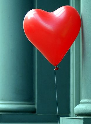 Red heart balloon.
