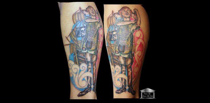 Pippi Calzelunghe, tatuaggio a colori