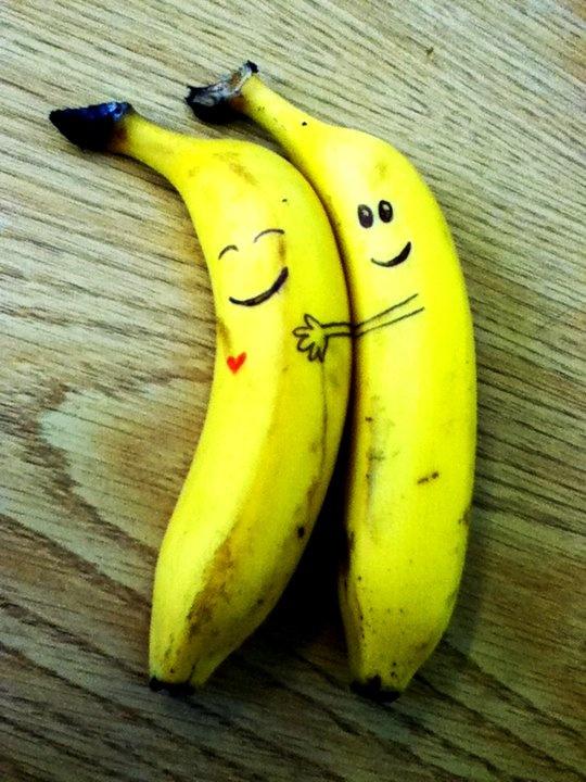 рожицы на бананах фото магического воздействия