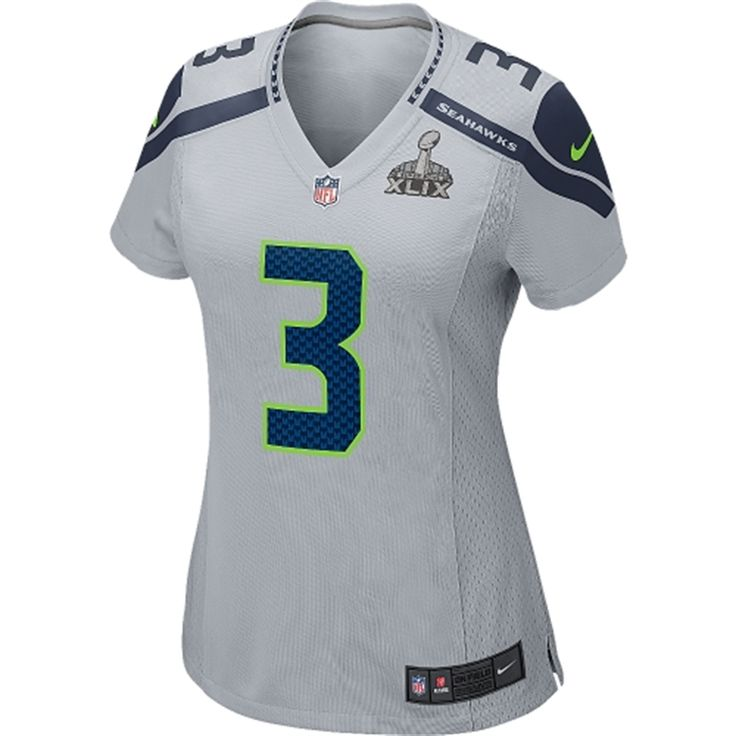 seattle seahawks womens russell wilson nike super bowl xlix bound game jersey gray mens nike seattle seahawks 3 limited
