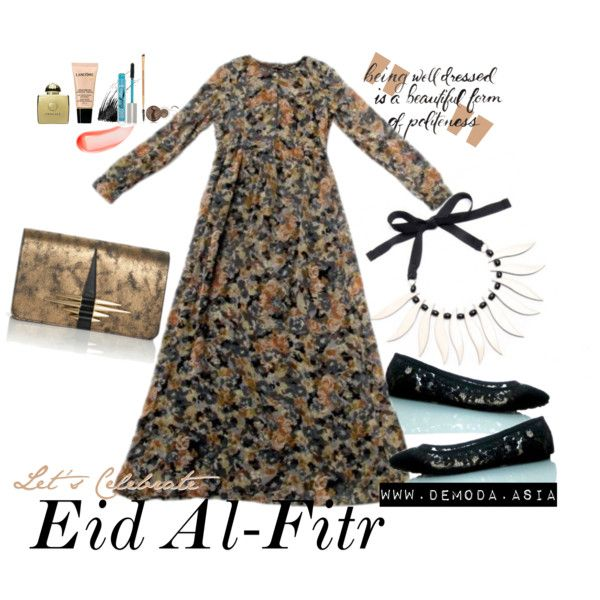 Eid Fashion by alaksmi08 on Polyvore featuring tarte, NARS Cosmetics, Lancôme, PurMinerals and AMOUAGE