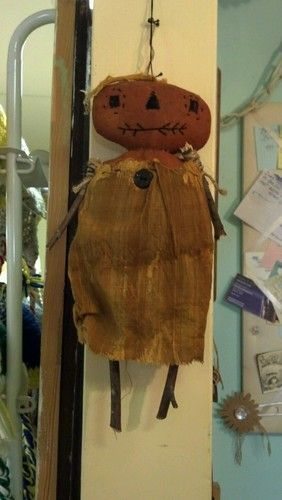 Halloween Primitive Doll Folk Art Handmade   eBay