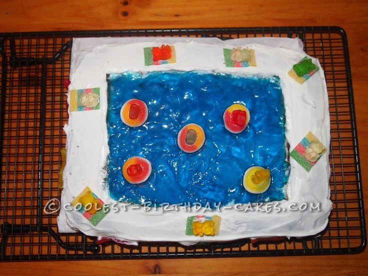 cool swimming pool cake this website is the pinterest of birthday cake ideas