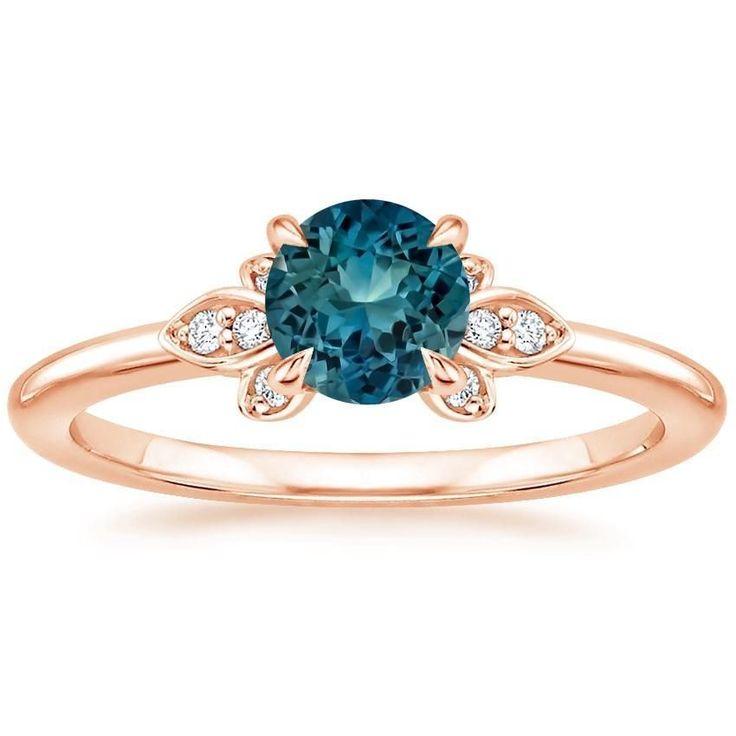 Angara Milgrain Enhanced Blue Diamond Framed Ring(5.5mm) cVOC27F
