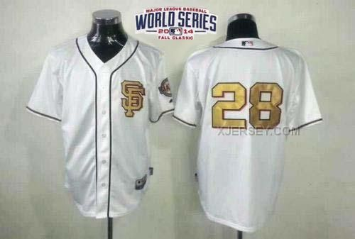 http://www.xjersey.com/giants-28-posey-white-gold-number-2014-world-series-cool-base-jerseys.html GIANTS 28 POSEY WHITE GOLD NUMBER 2014 WORLD SERIES COOL BASE JERSEYS Only $34.00 , Free Shipping!