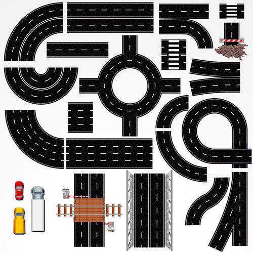 Creative Road design elements vector 01