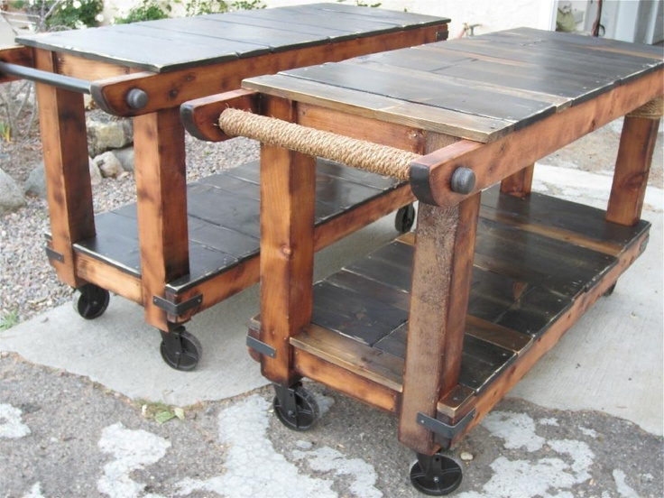 Handmade Rustic utility Carts by Thecarpenterant | CustomMade.com