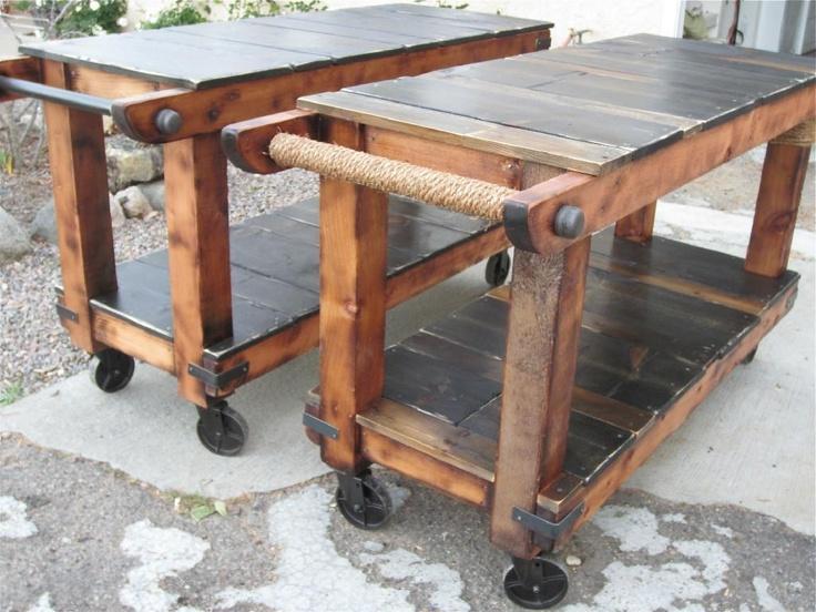Handmade Rustic utility Carts by Thecarpenterant   CustomMade.com