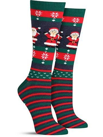 Mr. and Mrs. Claus Non Skid Socks | Womens