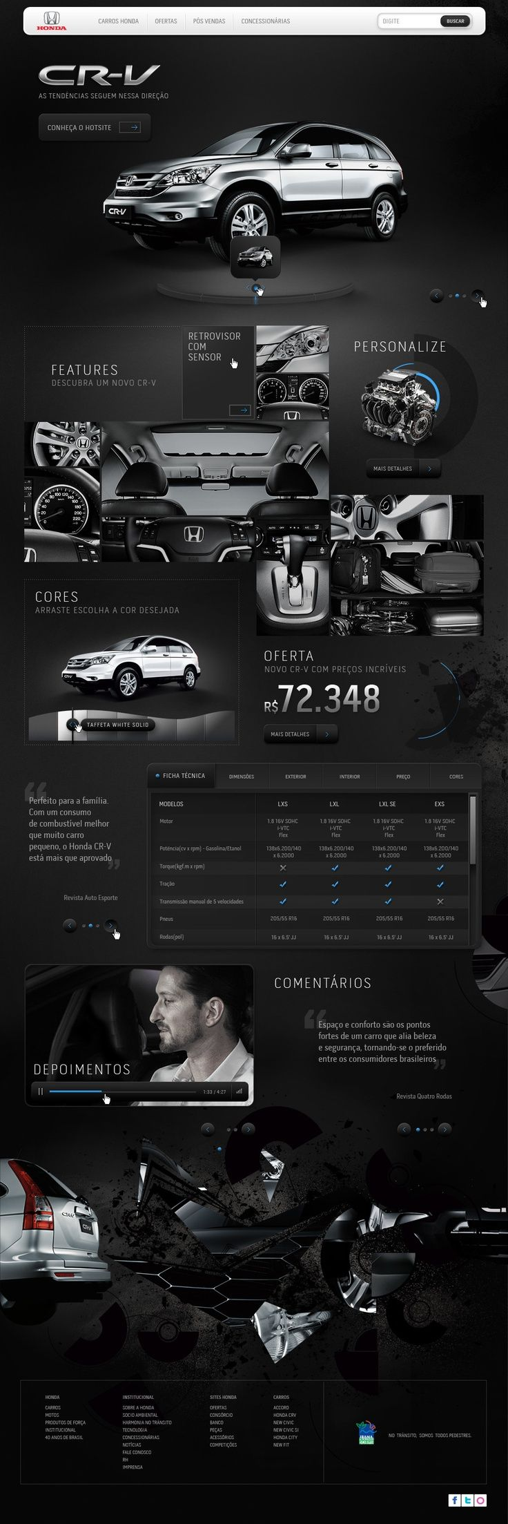 Augusto Paiva / Interactive Whatever.  interesting B usage. auto industry #webdesign.. If you like UX, design, or design thinking, check out theuxblog.com