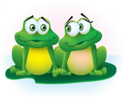 Such a sweet image of a frog couple!!  Cute, cute, cute!!
