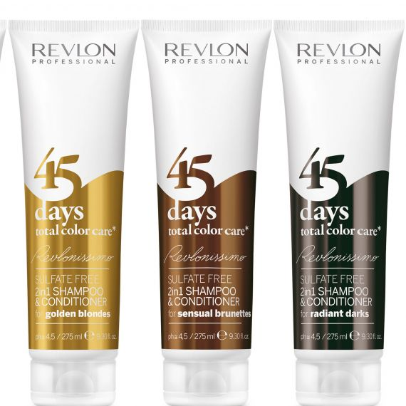 The first 2in1 shampoo/conditioner specifically designed for colour treated hair, Revlonissimo fights fade to protect that freshly coloured feeling for up to 45 days after you've left the salon