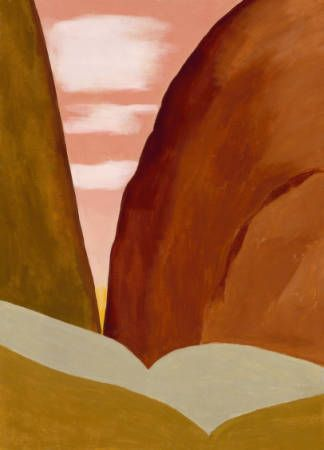 Canyon II by Georgia O'Keeffe. Art Experience NYC www.artexperiencenyc.com/social_login/?utm_source=pinterest_medium=pins_content=pinterest_pins_campaign=pinterest_initial