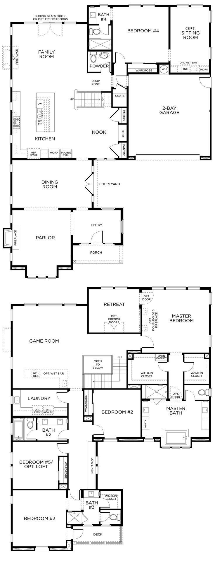 35 best luxurious floor plans images on pinterest house floor san diego luxury homes 5 bedrooms 45 bathrooms floor plans jameslax Images