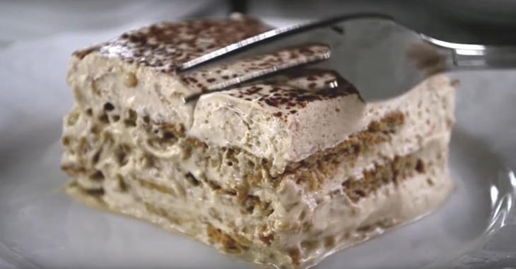 Gâteau gourmand au cappucino! Un gâteau SANS CUISSON parfait pour les débutants qui souhaitent faire bonne impression!
