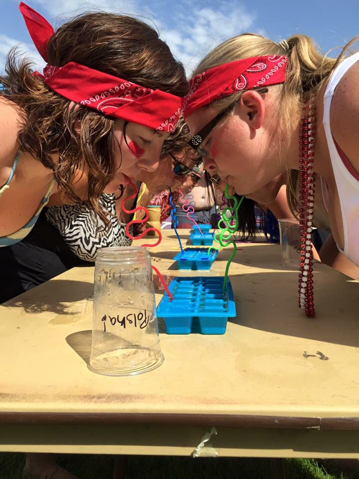 Ice ice baby... Beer Olympics game: fill up an ice cube tray with beer and use a curly straw to drink. Timed game.