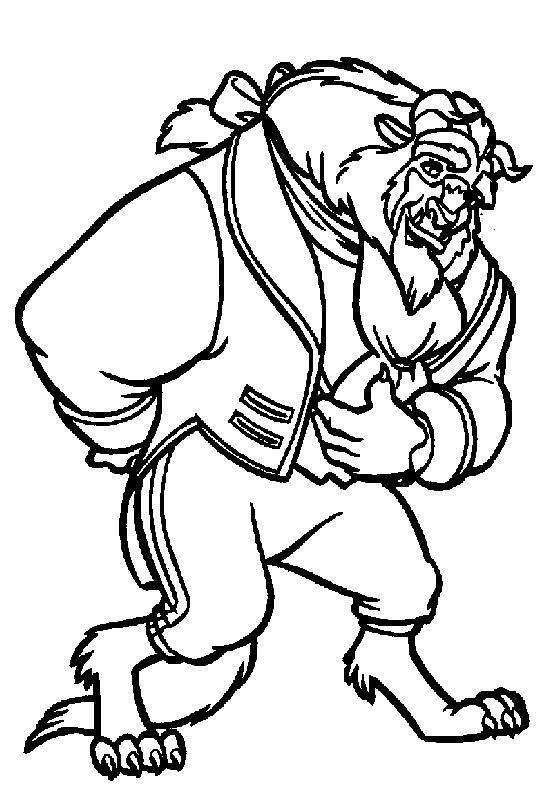 Beauty And The Beast Printable Coloring Pages 701 FodelsedagspresenterBelle Odjuret