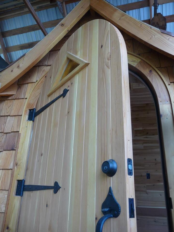 Amazing Custom Front Door by Zyl Vardos - http://www.tinyhouseliving.com/amazing-custom-front-door-zyl-vardos/