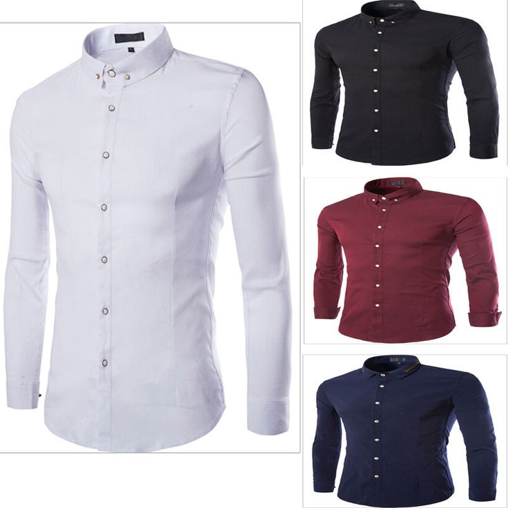 Soft Men's Casual Business Slim fit Formal botton Stylish Dress Shirts Top NEW  #Unbranded