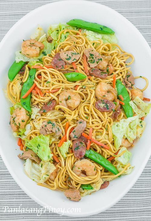 Pancit Canton is a great tasting Filipino Noodle dish. It is often served during birthdays and special occasions to symbolize long life. Aside from the symbolism, it is perfectly delicious.