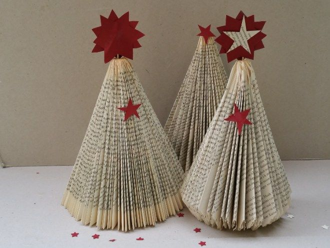 Ber ideen zu b cher falten anleitung auf pinterest - Origami weihnachtsbaum falten ...