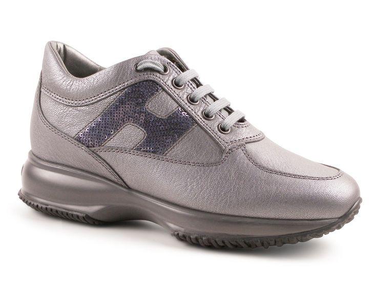 Women's Hogan Interactive sneakers in grey Leather - Italian Boutique €217