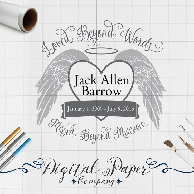 Loved Beyond Words Memorial Svg Files Silhouette