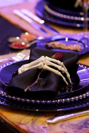 skeleton hand napkin holder